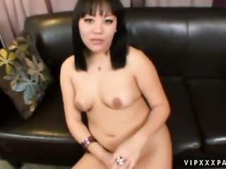 Teen oriental Tina Lee is on fire in interracial sex action with horny dude