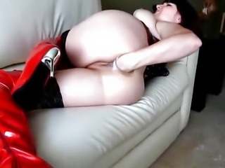 Desperate self anal fisting orgasms