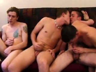 Straight twink amateur foursome at home