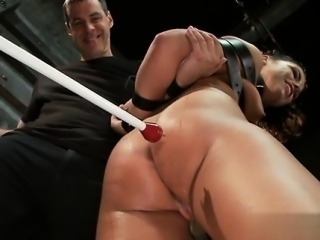 Cute pussy punish anal