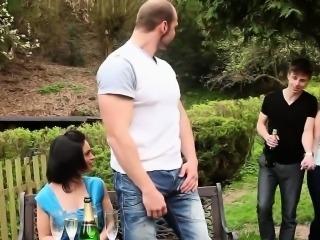 Bisex orgy fuck and cum