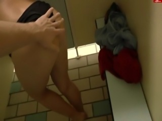 Geman girl fucks in public restroom free