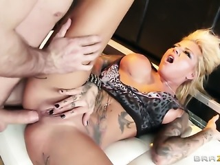 James Deen plays hide the salamy with Britney Shannon in anal porn action