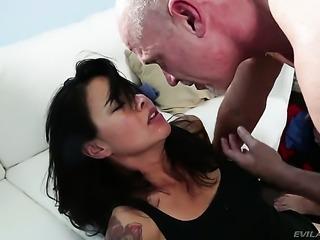 Shameless seductress Dana Vespoli offers her butt to Mark Davis after she...
