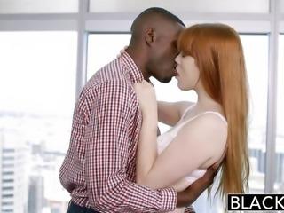 """BLACKED babe Gwen Stark enjoys first interracial"""