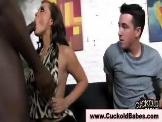 Cuckold femdom interracial big dick blowjob fuck