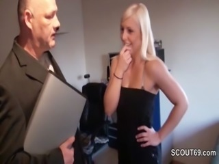 German 18yr old Teen get fucked by Grandpa because debts free