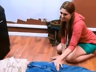 adorable girl helping old repairman - Find me on CAS-AFFAIR.