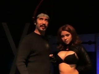 Hard on man fucks black slut widow at his warehouse