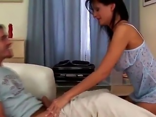 James Brossman and Alison Star are on the bed and they are having sex. The...