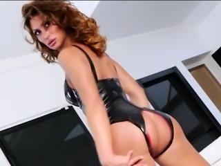 Big boobs tranny Gladys Adriane asshole banged real hard