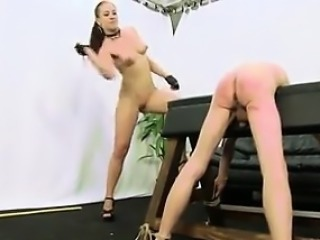 Caning by hot naked femdo - pussy on dom-match.com