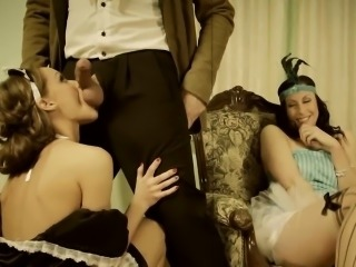 Maid Made To Suck Cock