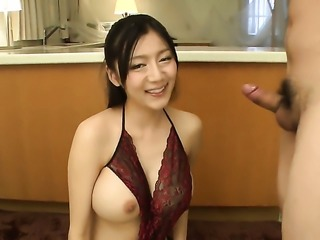 Japanese blow job by busty Miho Ichiki