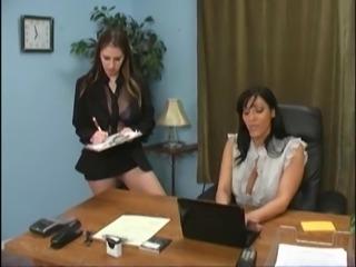 Girls dominant the boss