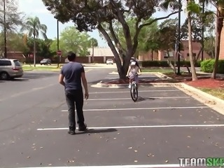 Emily started her day, by making efforts in learning, how to ride a bike. She...