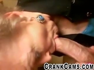 Old Neighbor Gets Facefucked - crankcams.com