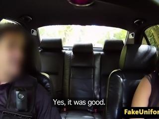 Black british amateur sucking uniformed cop