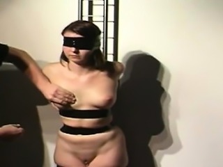 Redhead bitch has some crazy bondage fun!