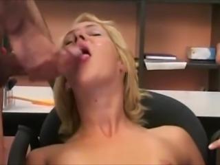 euro scene 32 beautiful blonde with 2 large cocks