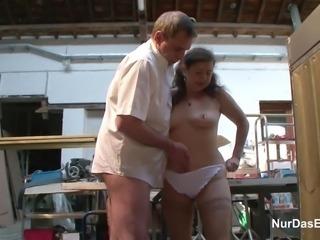 German 63yr old Granny Seduce to Fuck on Workplace