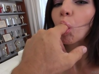 Slutty Erian takes off her clothes for horny Rocco. Then, the playful slim...