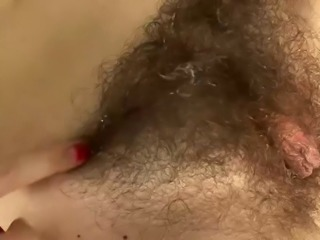 sexy hairy nurse fucks patient, cum on her hairy bush