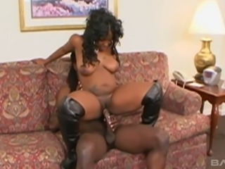 Bootyful black chick Tasteful gets rammed hard in different positions