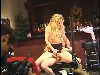 Alluring dame in nylon stockings getting nailed hardcore in an interracial sex