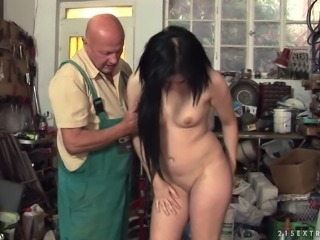 Marsha Cortez gets her pussy licked and fucked by an old man