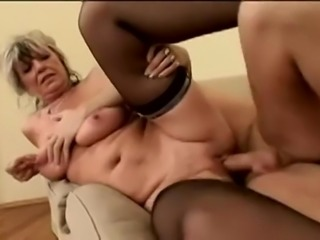 MOM has big pussy and lovely natural saggy tits