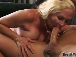 Lustful grandma Annabelle Brady fucks her kinky neighbour