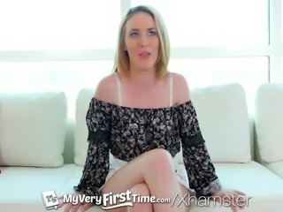 MyVeryFirstTime - Bonnie Grey gets her first dick in her ass