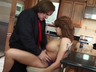 Sexy wife married to a businessman cheats on him