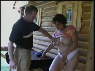 Perverted friend of mine fucked his old busty female neighbor