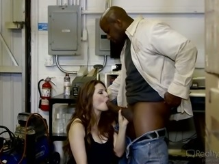 Kinky husband allows his whore wife to suck big black cock