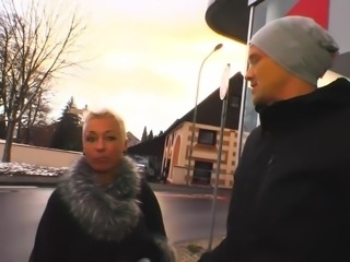 DeutschlandReport - Mature German blondie in hardcore pickup