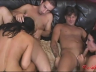 Hot Fourway Orgy With Double Anal Penetration