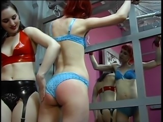 Redhead slave hottie teased