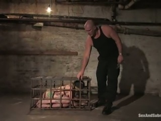 Beautiful blond sex slave is being tortured and banged