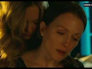 Julianne Moore, Amanda Seyfried Lesbian Sex Scene, Big Boobs + Nina Dobrev