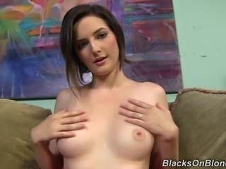 Yummy Tegan Mohr Serves An Interracial Handjob In A Backstage Clip