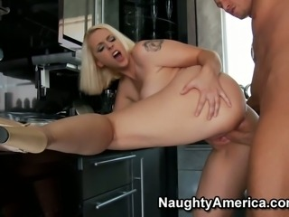 Dirty slut Mandy Sweet gives a hot blowjob and gets her pussy eaten on the...