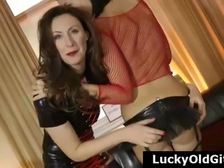 Older British guys sex adventures with stocking girls
