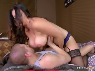 Hot MILF doctor treats this guy with her tight pussy