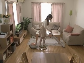 Perky tits Japanese girl likes kinky play with her man