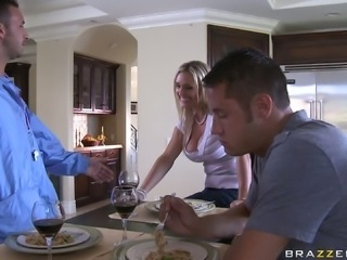 Busty blondie Tanya Tate is always for sucking long cocks