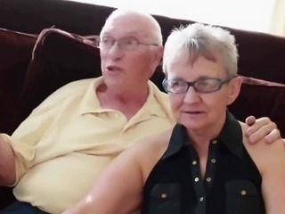 Grandma and grandpa with boy