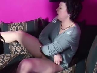 German Step-son Caught Mom Masturbate and Seduce to Fuck