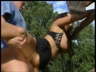 Big Natural German Tits Threesome